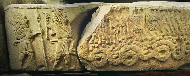 Барельеф из Малатьи, хетты, Анитта, Пирува